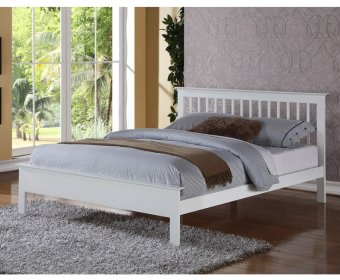 Peyton 4ft Small Double White Bed Frame