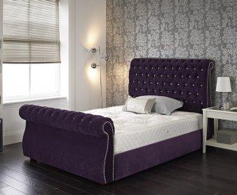 Liria Small Double 4ft Upholstered Bed Frame