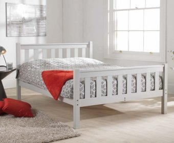 Kansas Shaker Small Double 4ft Grey High Foot End Bed