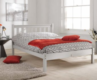 Kansas Shaker Small Double 4ft Grey Bed