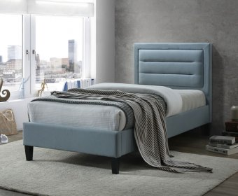 Picasso 4ft Blue Upholstered Bed Frame