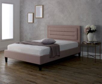 Picasso 4ft Pink Upholstered Bed Frame