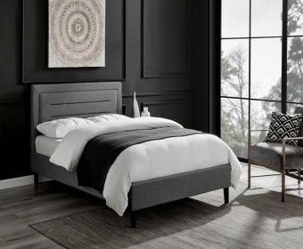 Picasso 4ft Grey Marl Upholstered Bed Frame