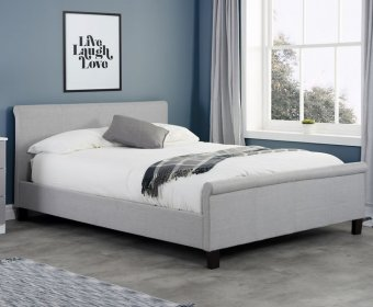 Holdings Small Double 4ft Grey Upholstered Bed