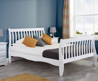 Wills Small Double 4ft White Wooden Bed