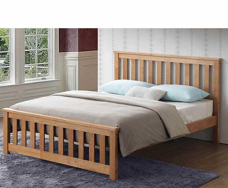 Orville 4ft Small Double Oak Wooden Bed, What Is Size Of Small Double Bed