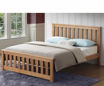 Orville 4ft Small Double Oak Wooden Bed