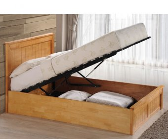 Hera 4ft Oak Wooden Ottoman Bed