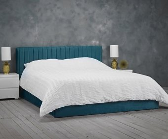 Spandau Teal Velvet Small Double 4ft Ottoman Bed