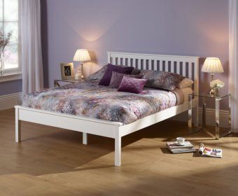 Heather Hevea Opal White Small Double 4ft Bed