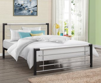 Faro Small Double 4ft Metal Bed