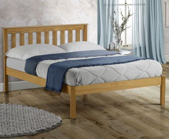 Kennedy 4ft Shaker Natural Wooden Bed