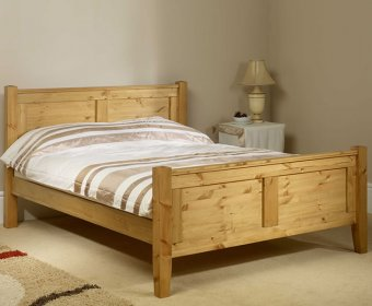 Coniston 4ft Pine High Footend Bed