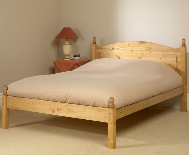 just4ftbeds.co.uk Orlando 4ft Pine Low Footend Bed natural finish