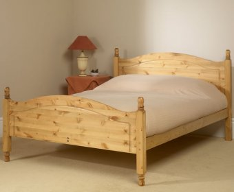 Orlando 4ft Pine High Footend Bed
