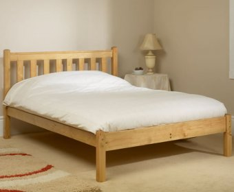 Kansas Shaker Small Double 4ft Pine Bed