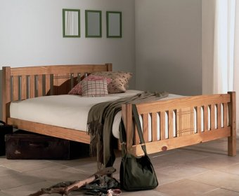Sedna 4ft Honey Wooden Bed