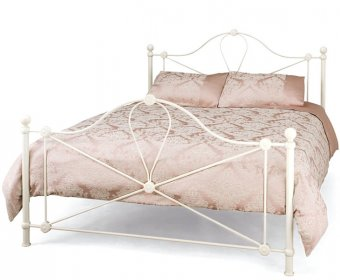 Lyon Small Double 4ft Ivory Metal Bed