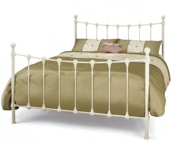 Marseille Small Double 4ft Ivory Metal Bed