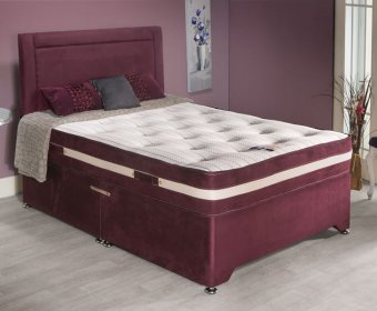 Ashford Small Double 4ft Faux Suede Divan Set