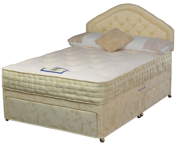Chelsea small double 4ft memory foam divan set for Small double divan set