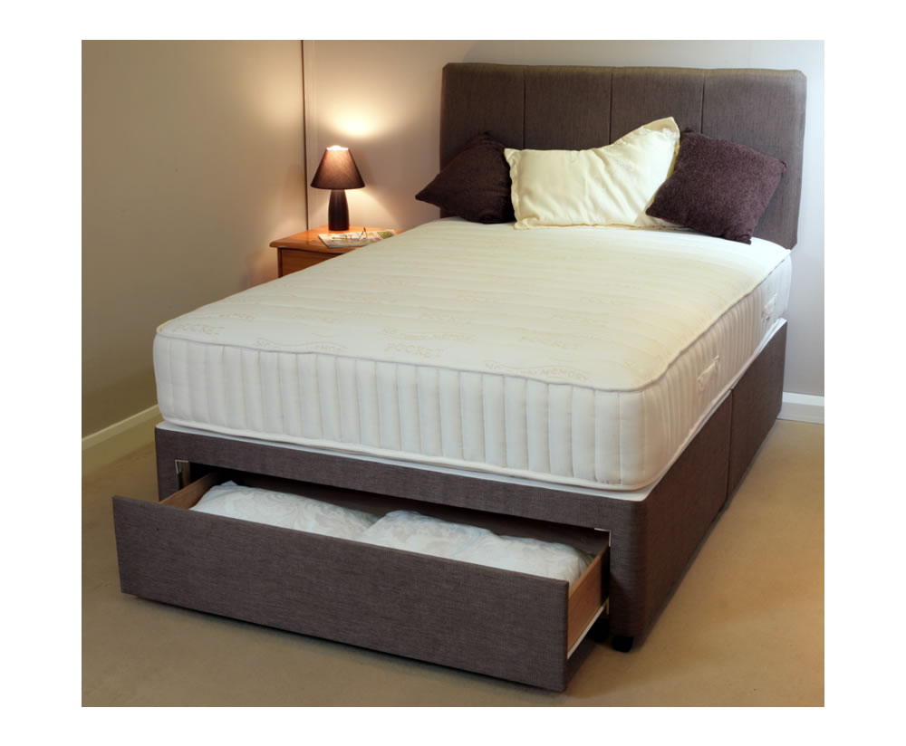 Buy 4ft divan bed bases online fast uk delivery on small for Double divan base with drawers