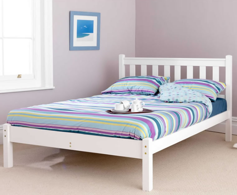 just4ftbeds.co.uk Kansas Shaker Small Double 4ft White Bed