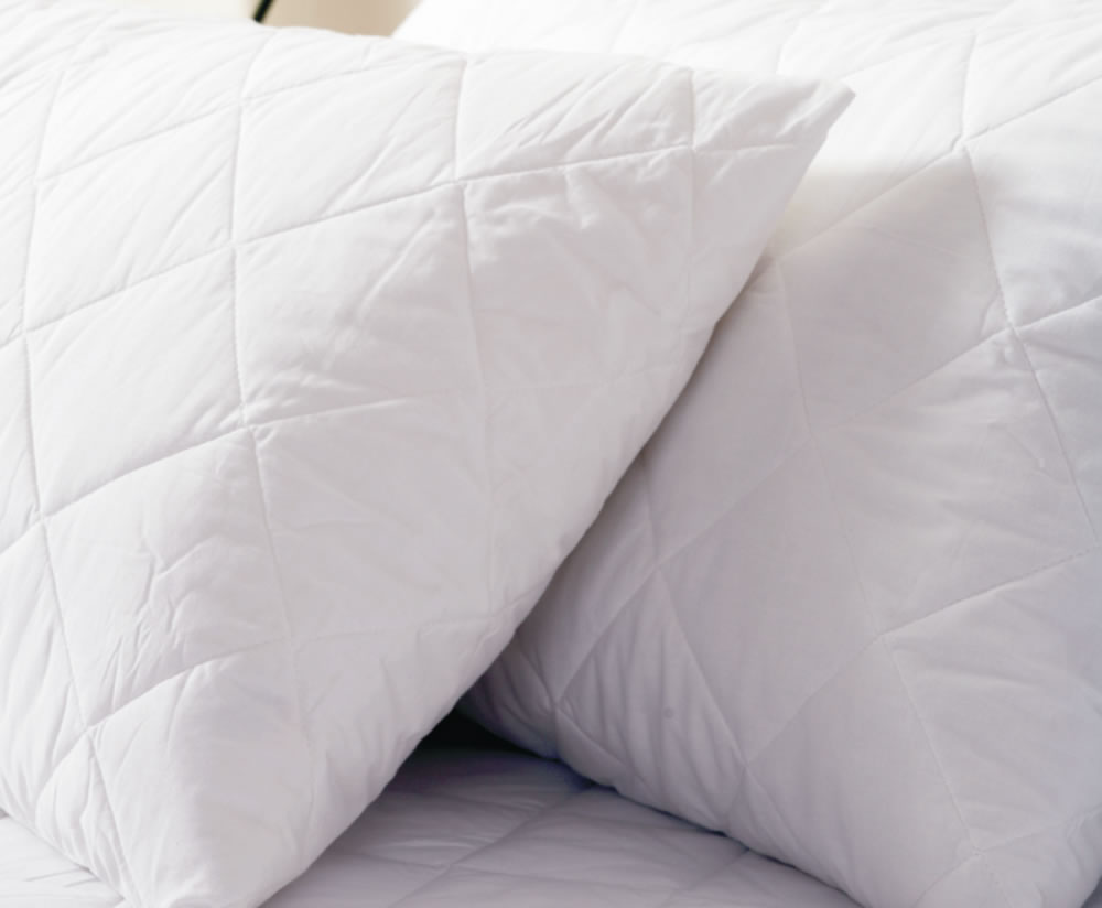 just4ftbeds.co.uk Quilted Pillow Protector cotton quilted pillow protector