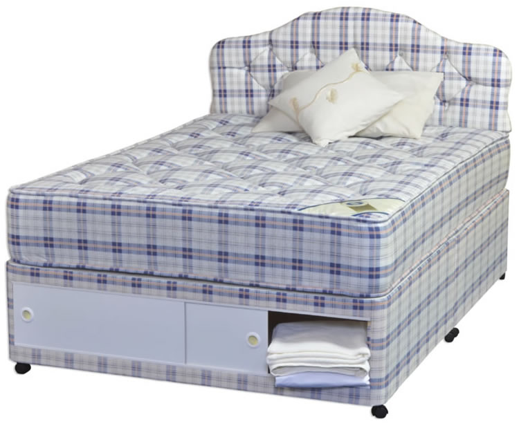 Rome orthopaedic 4ft divan set small double slider 2 or for 4ft divan beds with drawers