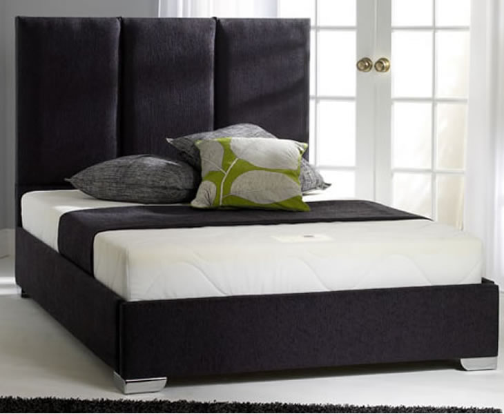 Small Double Frame Porto Small Double 4ft Upholstered Bed turin navy