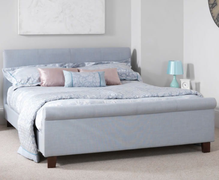 cd9436c0a3ac Henri Small Double 4ft Ice Upholstered Bed - Just 4ft Beds