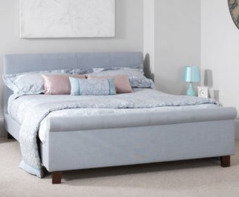 Henri Small Double 4ft Ice Upholstered Bed