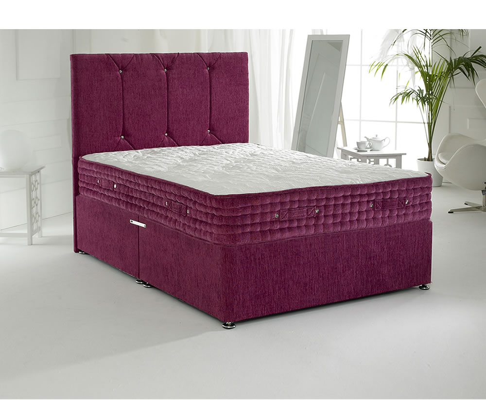 Majestic rose small double 4ft divan set for Small double divan set
