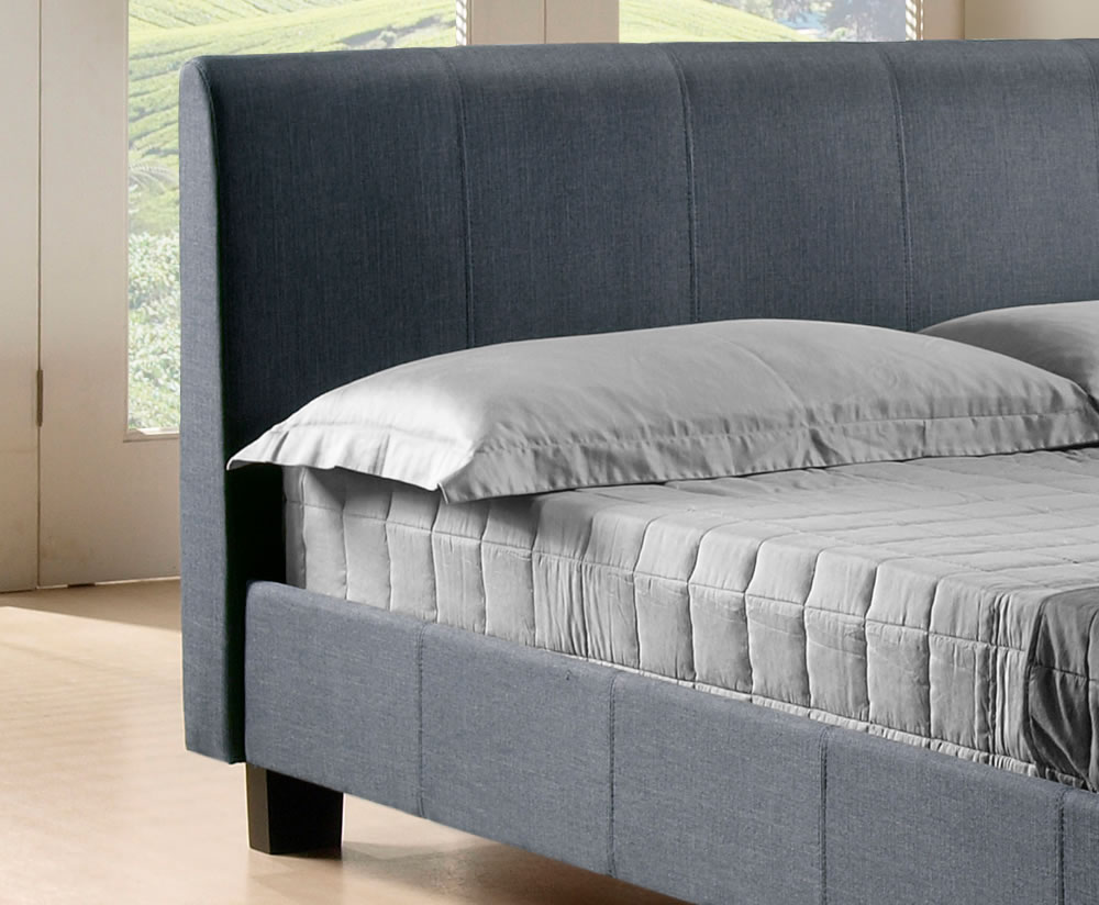 Easton Small Double 4ft Grey Upholstered Bed 3 Day