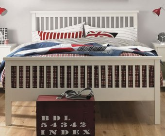 Atlanta White 4ft Slatted Wooden Bed