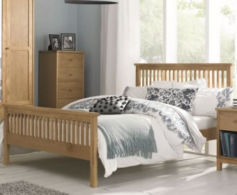 Atlanta Oak 4ft Slatted Wooden Bed