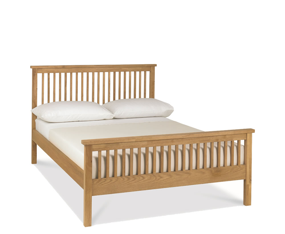 Atlanta oak 4ft slatted wooden bed just 4ft beds Wooden bed furniture