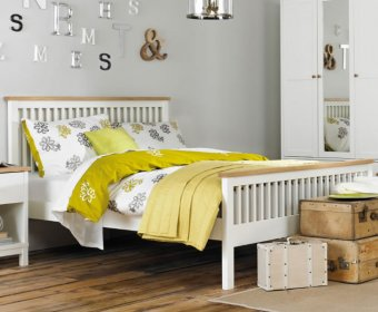 Atlanta Two Tone 4ft Slatted Wooden Bed