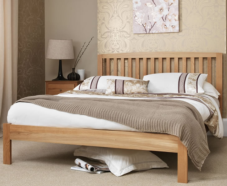 Thornton oak 4ft small double bed frame just 4ft beds for Small bed frame