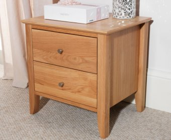 Thornton Oak 2 Drawer Bedside Chest