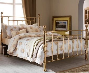 Benjamin Brass Small Double 4ft Bed