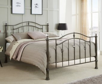 Ashley Black Nickel Small Double 4ft Metal Bed